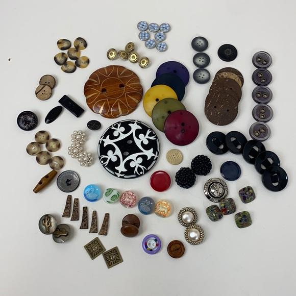 BUTTONS Bundle of Unique Rare Buttons
